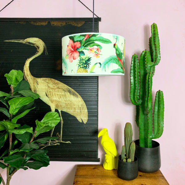 Handmade Tropical Drum Lamp Shade Tropical Paradise