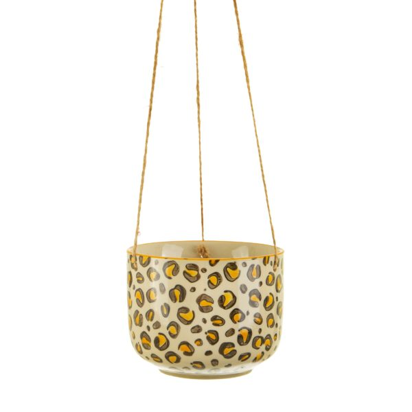 Leopard Print Hanging Planter Cut Out White Background