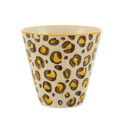 Mini Leopard Print Planter Cut Out White Background