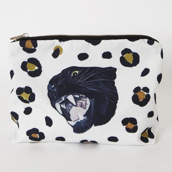 Leopard Print Panther Wash Bag