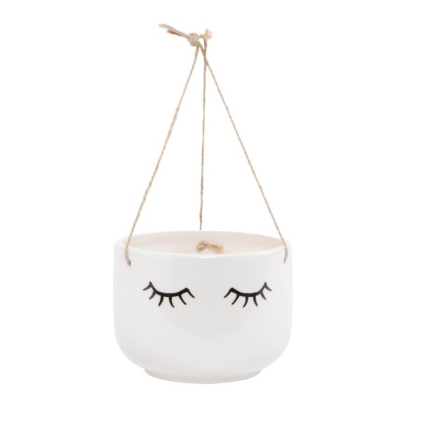 Sleepy Hanging Planter Cut Out White Background