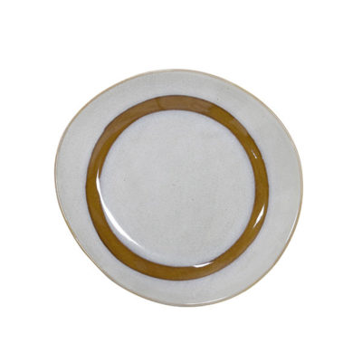 70's Inspired Ceramic Side Plate - Snow