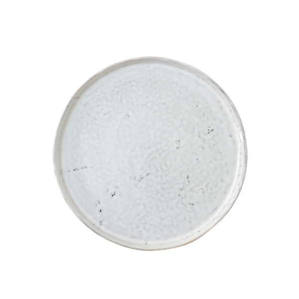 Artisan Speckled Breakfast Plate in White