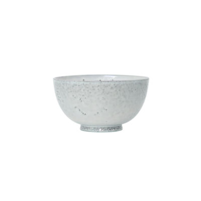 Artisan Speckled Dessert Bowl in White