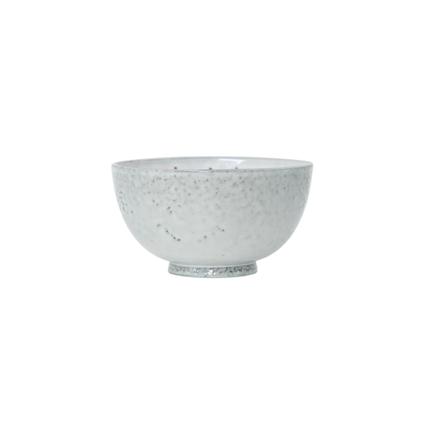 Artisan Speckled Dessert Bowl in White
