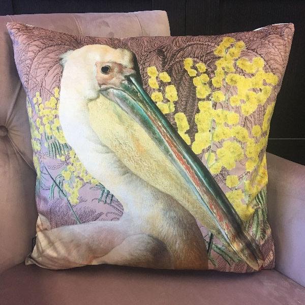 Pelican Velvet Cushion