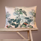 Nude Apple Blossom Bolster floral velvet Cushion