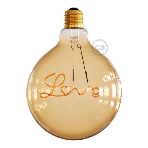 LED Filament Love Bulb light off