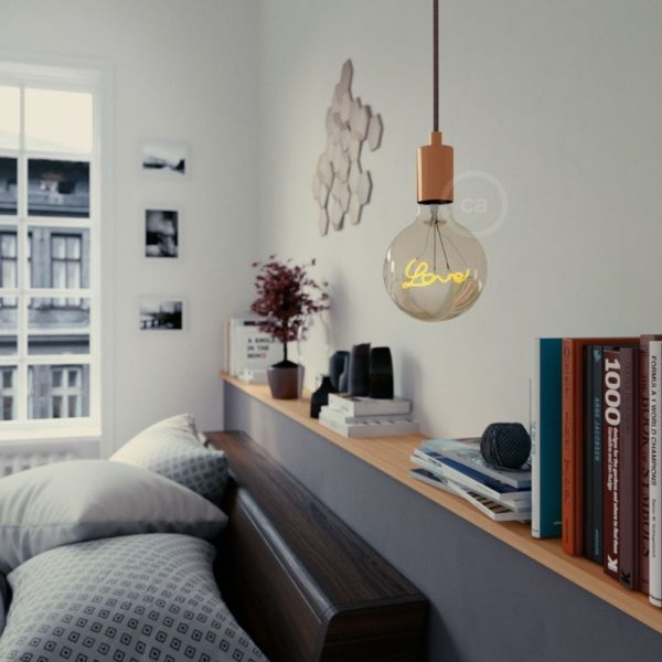 LED Filament Love Bulb lifestyle Shot