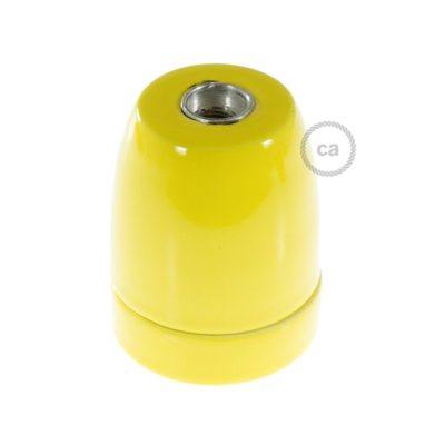 Porcelain Lampholder in Yellow