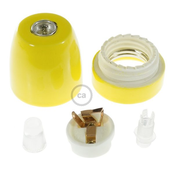 Porcelain Lampholder in Yellow