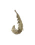 Brass Feather Hook in Matt Gold Cut out