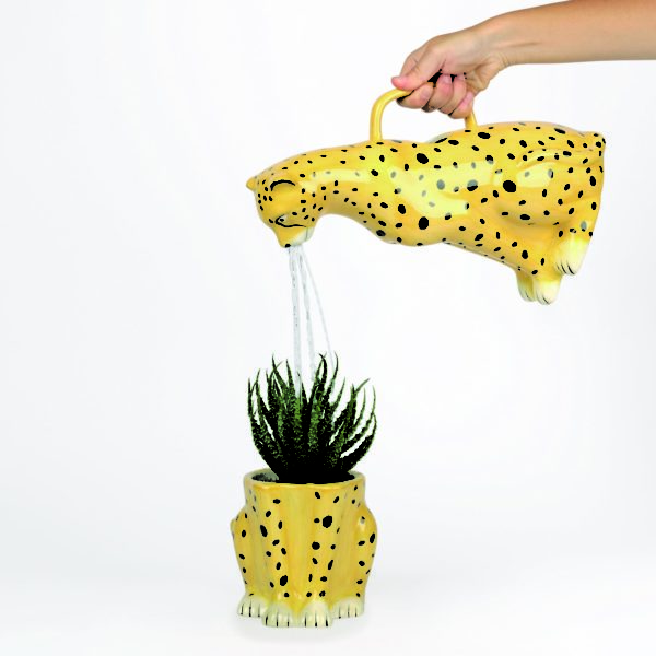 Cheeky Cheetah Watering Can Cut Out