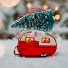 Retro Caravan Christmas Bauble Lifestyle