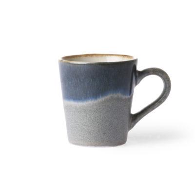 Ceramic 70s Espresso Cup - Ocean blue