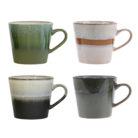 70's Ceramics Mugs - Set of 4 Gift Box