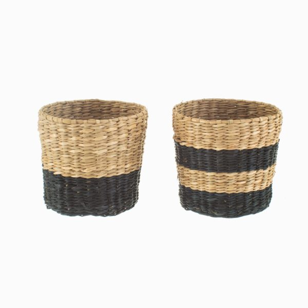 Mini Seagrass Baskets Cut Out White Background