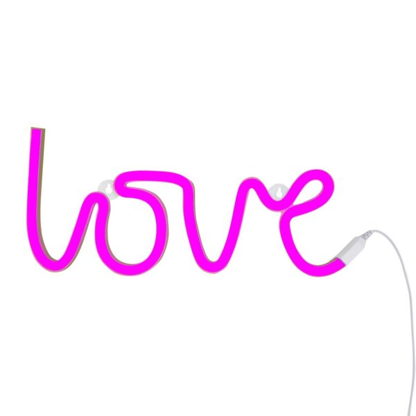 LOVE Neon wall Light in Pink