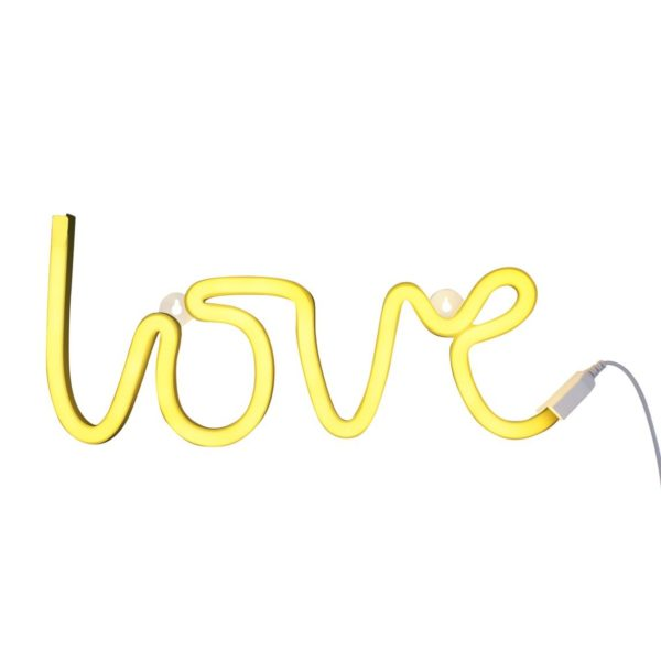 LOVE Neon wall Light in Yellow