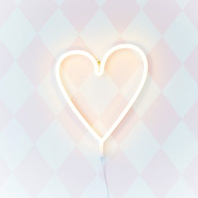 Yellow Love Heart Neon Light LED
