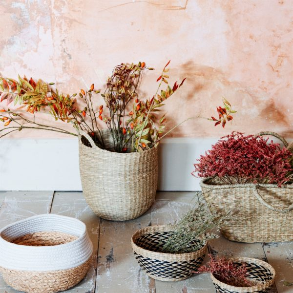 Woven Seagrass Basket Life Style Image