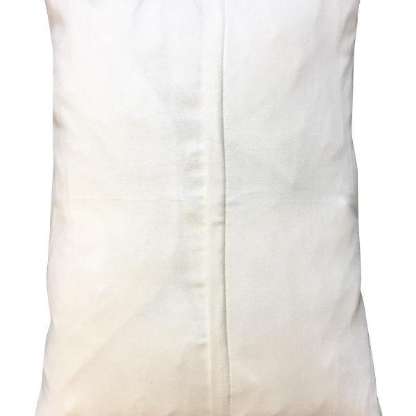 Black and White Striped Velvet Cushion Back of Cushion