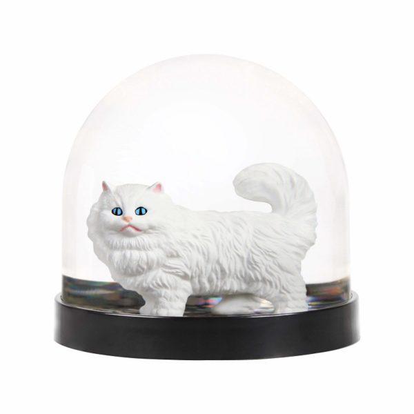Kitsch Kitty Cat Christmas Snow Globe