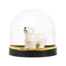 Gold Polar Bear Christmas Snow globe