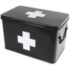 Retro Medicine Storage Box in Black