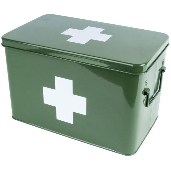 Retro Medicine Storage Box in Green