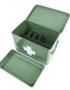 Retro Medicine Storage Box in Green Compartments