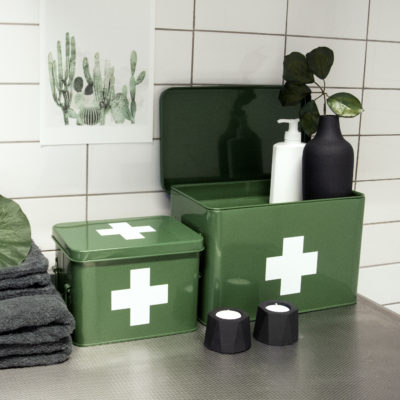 Retro Medicine Storage Box in Green