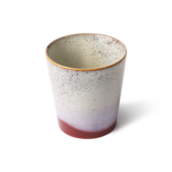 70's inspired ceramic cup - Frost variation in the glaze