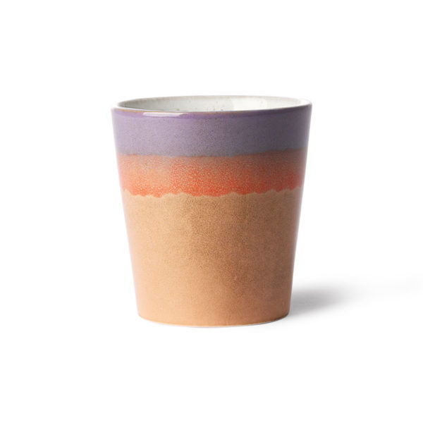 70's ceramic cup - Sunset