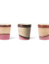 70's Inspired Ceramic Cup - Dunes. Showing the variation in the glaze