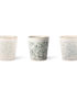 70's Inspired Ceramic Cup - Hail. Showing the variations on the glaze