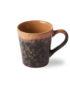70s Inspired Ceramics Espresso Cup - Lava