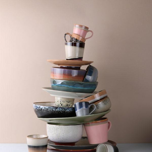 Organic Tones collection of 70s ceramics