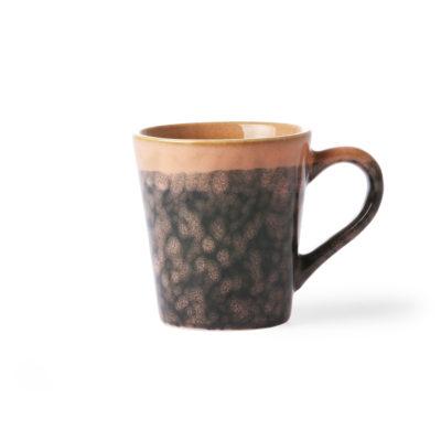 ceramic 70's espresso Cup: lava