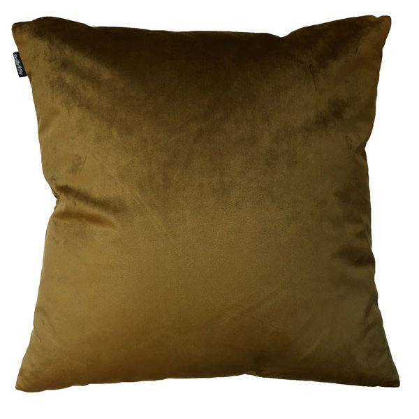 Velvet Palm Tree Cushion in Mustard Back