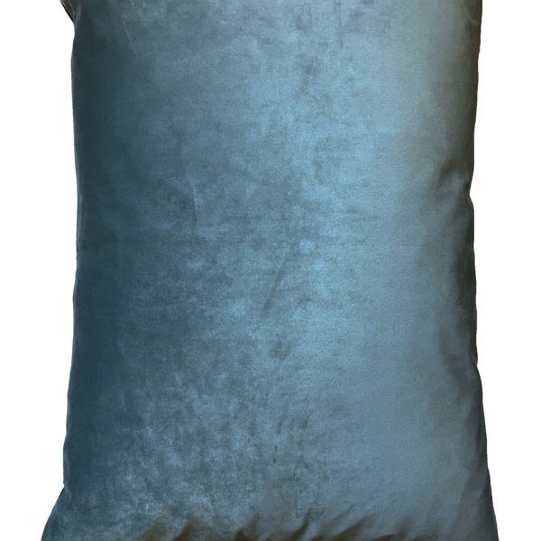 Velvet Palm Trees Bolster Cushion in Blue - Back