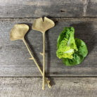 Brass Ginkgo Leaf Salad Servers