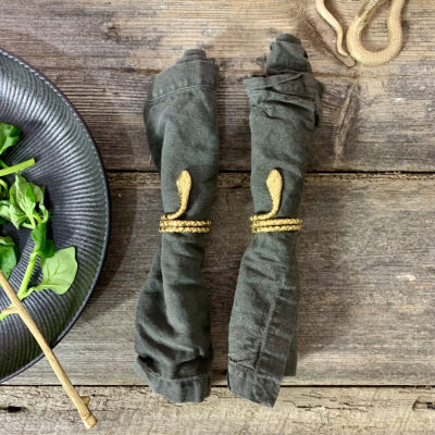 Pair of Serpent Snake Napkin Rings