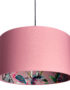 Dirty Pink ChiMiracle Wallpaper Silhouette Lampshade in Dirty Pink Cotton