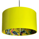 Mustard ChiMiracle Wallpaper Silhouette Lampshade in Buttercup Yellow Cotton