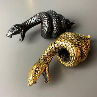 Serpent Snake Bottle Opener in Black or Gold