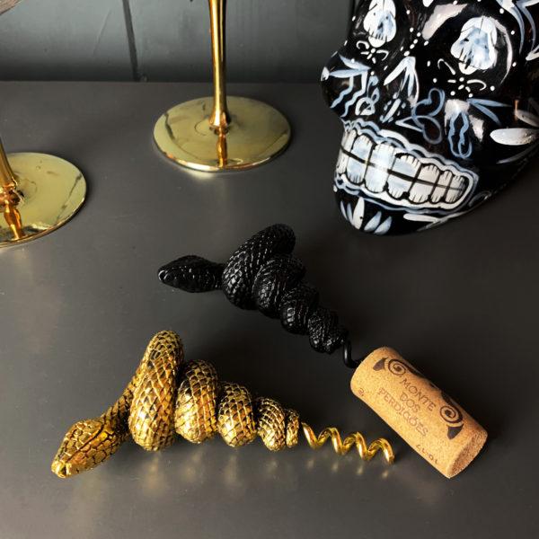 Serpent Snake Corkscrew in Black or Gold