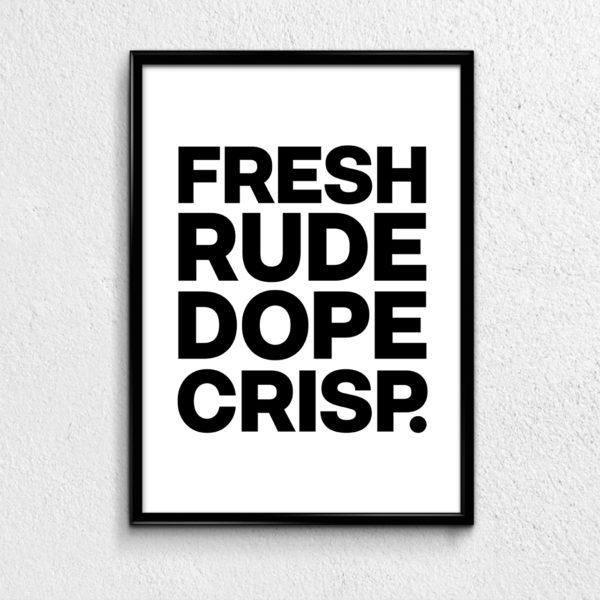 NANA-Tude - Typography Poster with Attitude