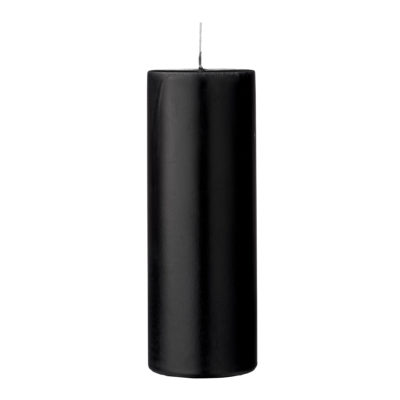 Black Pillar Candles - 2 Sizes Available