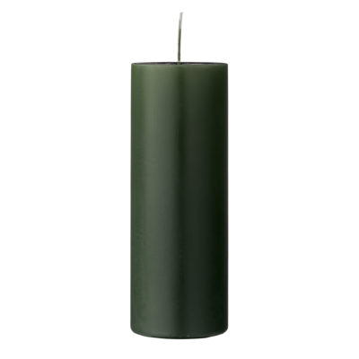 Green Pillar Candles - 2 Sizes Available